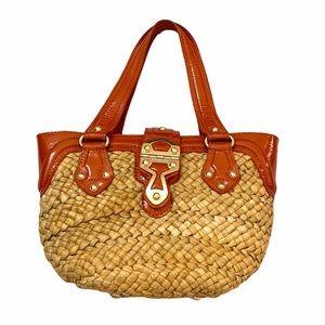 Michael Kors Santorini Orange Straw Bag